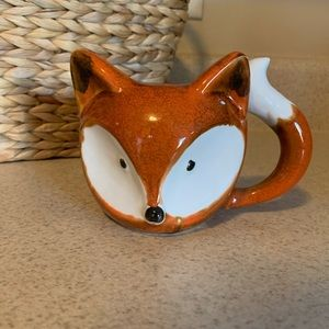 Little fox coffee mug with tail handle